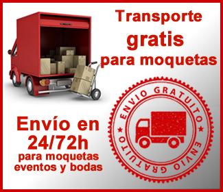 Transporte gratis para moquetas